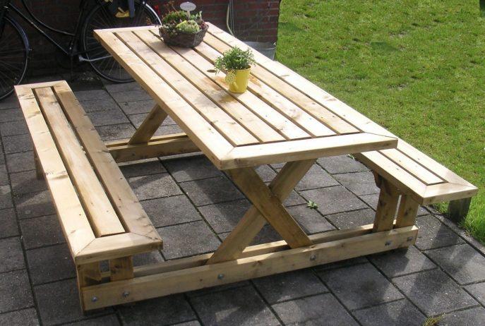 Meja Dan Kursi Dari Limbah Palet Kayu